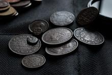 Old Indian Antique Coins . Bri...