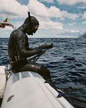 Freediver Preparing