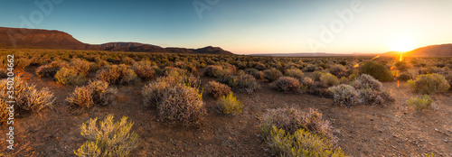 Wide angle views over the plains of the Tankwa Karoo in the Northern Cape Provin Wallpaper Mural