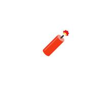 Firecracker Vector Flat Icon. ...