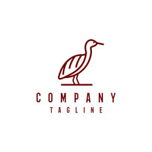 Cattle Egret Bird Logo Design....