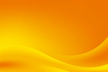 Abstract Blurry Orange Yellow Wave Background Design, Fresh Orange Yellow Stylish Background Template Vector