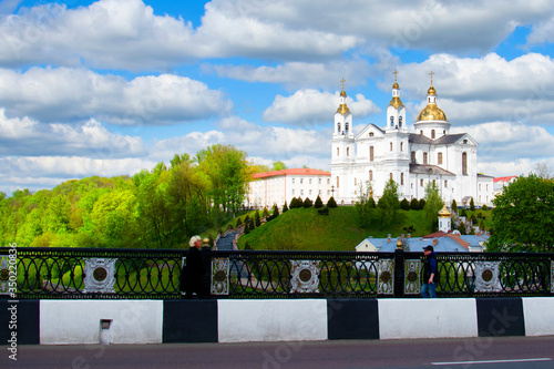 Vitebsk,Belarus - 14 May, 2020: Holy Assumption Cathedral of the Assumption on t Wallpaper Mural