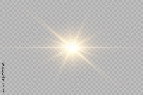 Obraz Vector transparent sunlight special lens flash light effect.front sun lens flash. Vector blur in the light of radiance.  - fototapety do salonu