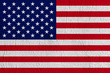 USA flag on wallpaper texture. Abstract background for design.