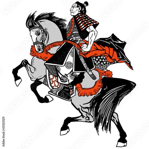 Fotografie, Obraz Asian cavalry warrior