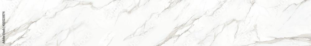 Fototapeta Panorama of white marble stone