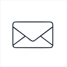 Email Icon Isolated On White B...