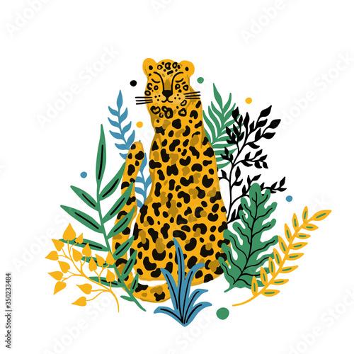 Leopard animal seamless pattern Wallpaper Mural