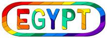 Egypt. Multicolored Bright Fun...