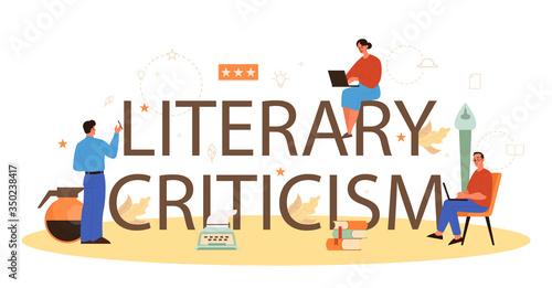 Professional literary criticism typographic header concept Slika na platnu