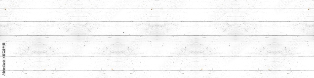 Fototapeta Old white painted exfoliate rustic bright light wooden texture - wood background banner panorama shabby