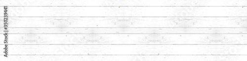 Obraz Old white painted exfoliate rustic bright light wooden texture - wood background banner panorama shabby  - fototapety do salonu