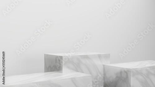 Obraz na plátne Mock up background/backdrop in minimal  modern illustration design style for pro
