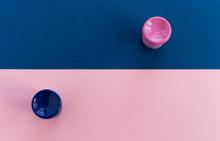Minimalistic Blue And Pink Bac...
