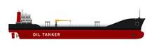 Black Red Oil Tanker Isolated ...