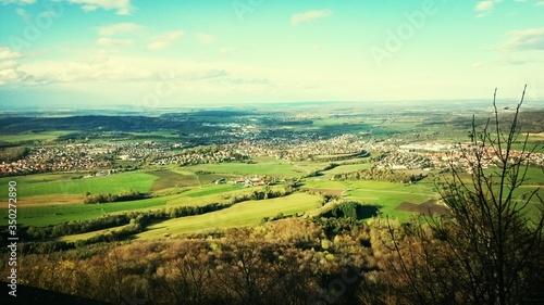 Obraz na płótnie View From A Hilltop