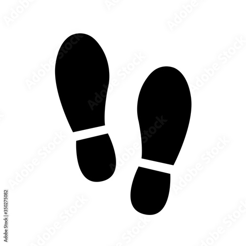 Photo Different human footprints icon. Vector illustration