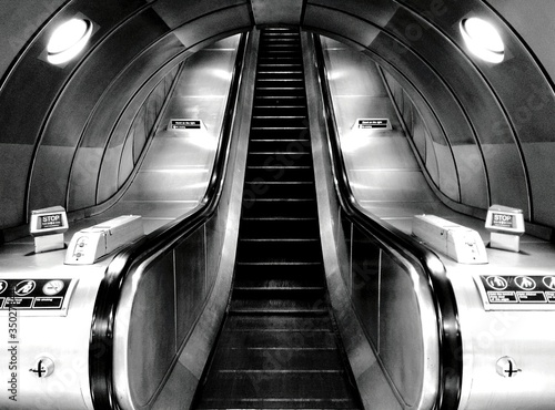 Fototapeta Low Angle View Of Escalator