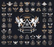 Heraldic Coat Of Arms Vector B...