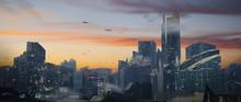 Digital Painting Of A Futurist...
