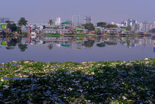 Polluted Canal And River In Dh...