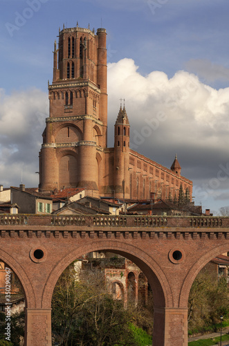 Photo Cathedral of Saint Cecilia or Albi Cathedral in Albi, Tarn, Midi-Pyrenees, France