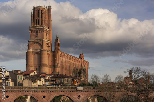 Cathedral of Saint Cecilia or Albi Cathedral in Albi, Tarn, Midi-Pyrenees, France Canvas Print