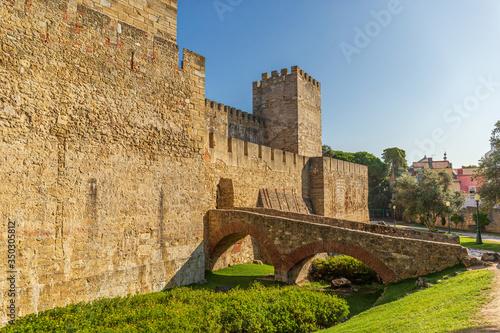 Fotomural Saint George castle in Lisbon, Portugal