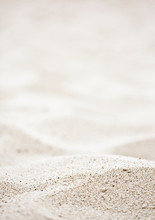 Blurred Of The Sea And Sand In...