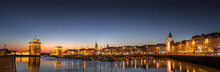 Panoramic View Of The Old Harbour Of La Rochelle At Sunset