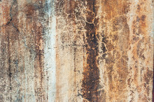 Rusty, Spotted Concrete Backgr...