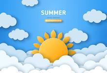 Summer Day Concept Vector Illu...