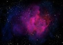 Painting Of A Gaseous Nebula I...