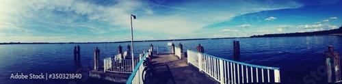 Panoramic View Of Pier On Sea
