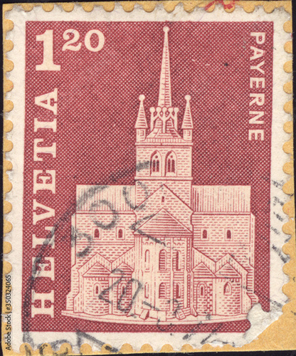 Postage stamps of the Helvetia Canvas-taulu