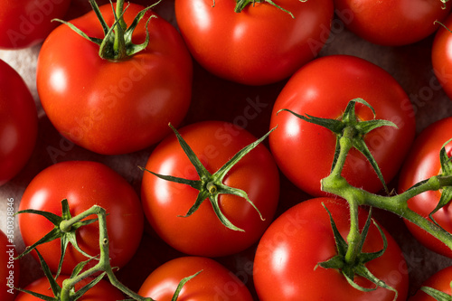 Raw Organic Vine Ripe Red Tomatoes