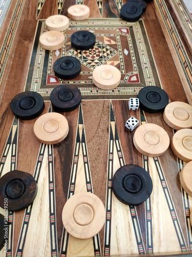 Backgammon with wooden inlay Slika na platnu