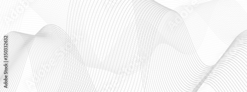 Obraz na plátně Wavy lines art background. Abstract vector background
