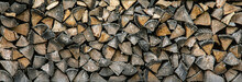 Wood Logs Background Texture. ...
