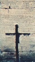 Cross Shape Crack In Stone Wall