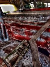 Strap On Rusty Old Vehicle