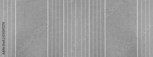 Fotografie, Tablou Gray grey white striped natural cotton linen textile texture background banner p