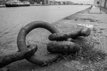 Close-up Of Huge Chain Links O...