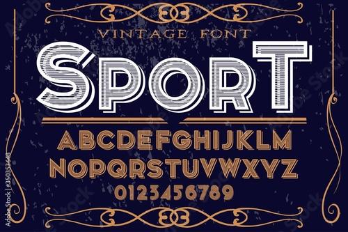 old vintage font style Wallpaper Mural