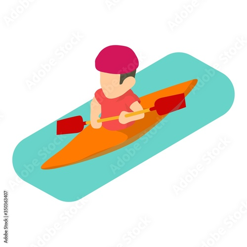 Valokuvatapetti Kayaker man icon