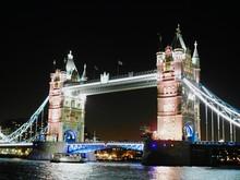 View Of Tower Bridge At Night