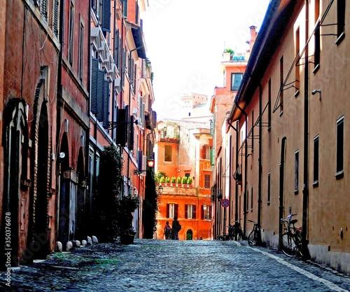 Fotografia Alley In City