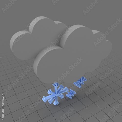 Obraz Snow weather symbol - fototapety do salonu