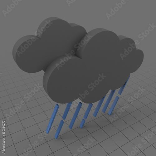 Obraz Rain weather symbol - fototapety do salonu